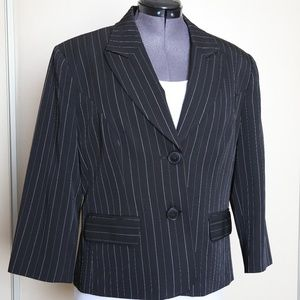 George Stretch Pinstripe Blazer
